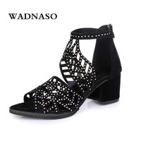 2018 Sandals Fashion Women Summer New Products Mesh Fishmouth Shoes High Heel Fashion Water Drill Nightclub Sexy Sandals