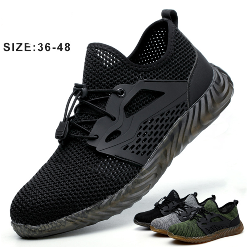 2019 Summer Fashion Breathable Men Safety Shoes Steel Toe Cap Lightweight Non-slip Wear-resistant Insulation Work Safety Boots2019 Summer Fashion Breathable Men Safety Shoes Steel Toe Cap Lightweight Non-slip Wear-resistant Insulation Work Safety Boots