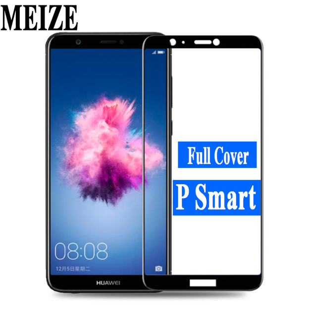 P Smart Tempered Glass for Huawei P Smart Dual SIM PSmart 9H Full Cover Protective Film Screen Protector for P Smart FIG-LX1