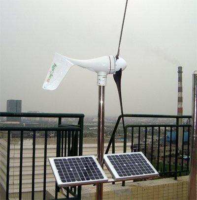 CE,Russia,RoHS approved 600W solar wind hybrid system,500W wind turbine+100W solar+controller+ pure sine wave inverter
