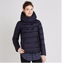 ICEbear Women s Winter Parkas 2018 Double Breasted Cotton Padded Jackets Hooded Collar Polyester Slim Thickening