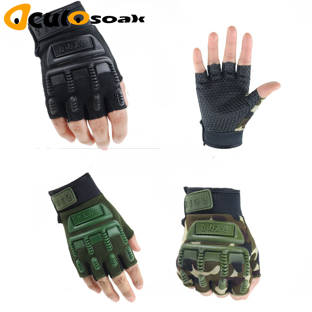 Hot Kids Tactical Fingerless Gloves For 5-13 Years Old Military Armed Anti-Skid Sports Outdoor Half Finger Boys Girls Gloves