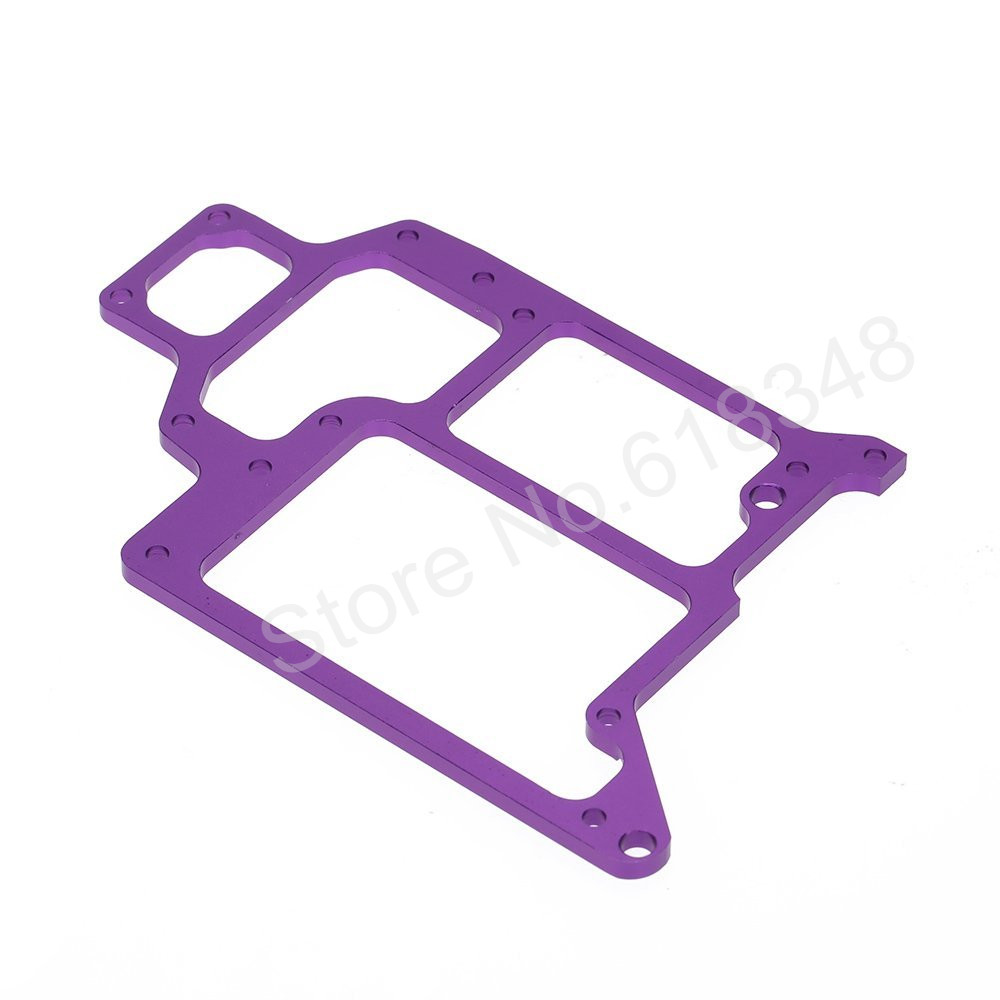 HSP 108065 Compact Alum Radio Tray 02069 1/10 Upgrade Parts For RC Model Car Off Road Monster Truck 94108 Purple 02023 clutch bell double gears 19t 24t for rc hsp 1 10th 4wd on road off road car truck silver