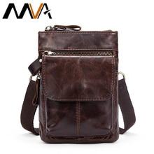 MVA Bag Men's Genuine Leather Vintage Messenger Bag