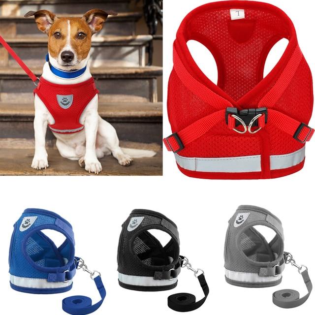 Pet Dog Harness e Guinzaglio Set per Chihuahua Pug Piccolo Medio di Nylon Della