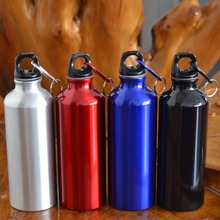 500ml Aluminum Alloy Drinking Drinkware Kettle Sports Camping Hiking Cycling Climbing Bicycle My Water Bottle With Carabiner