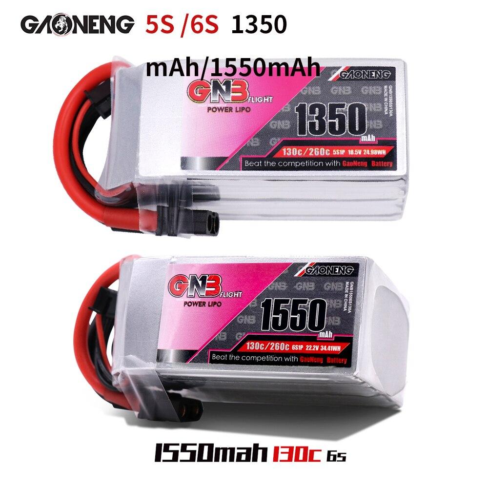 Gaoneng GNB FPV Lipo batterie 5 S 18.5 V 6 S 22.2 V 1350 mAh 1500 mAh Batteries Ffor RC avion Quadrotor Drone AKKU
