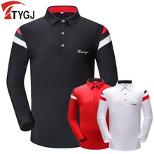 Autumn winter new golf sportswear men's long-sleeved golf T-shirt breathable and quick-drying polo shirt men golf Clothes tops