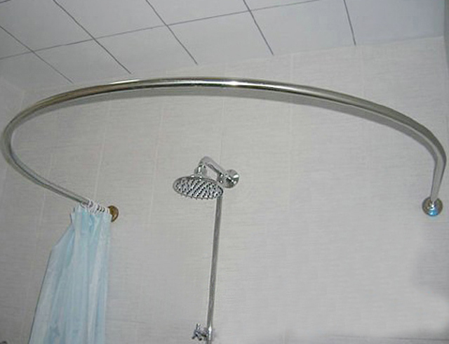 Stainless Steel Round U Shaped Curved Shower Curtain Rod Shower Curtain Rod U Shaped L Shaped