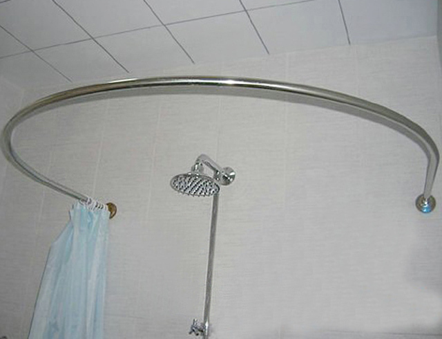 Stainless steel round U shaped curved shower curtain rod shower ...