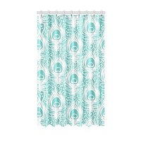 Custom Charming Beautiful Peacock Bird Tail Feathers shower curtain for bathroom shower curtain 60x72inch 152x183cm