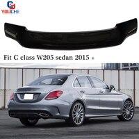 R Style Car Back Lip Wing Carbon Fiber Spoilers for Mercedes C Class W205 Sedan 2015 + C180 C200 C250 C300 C350 Boot Lip|Spoilers & Wings|Automobiles & Motorcycles -