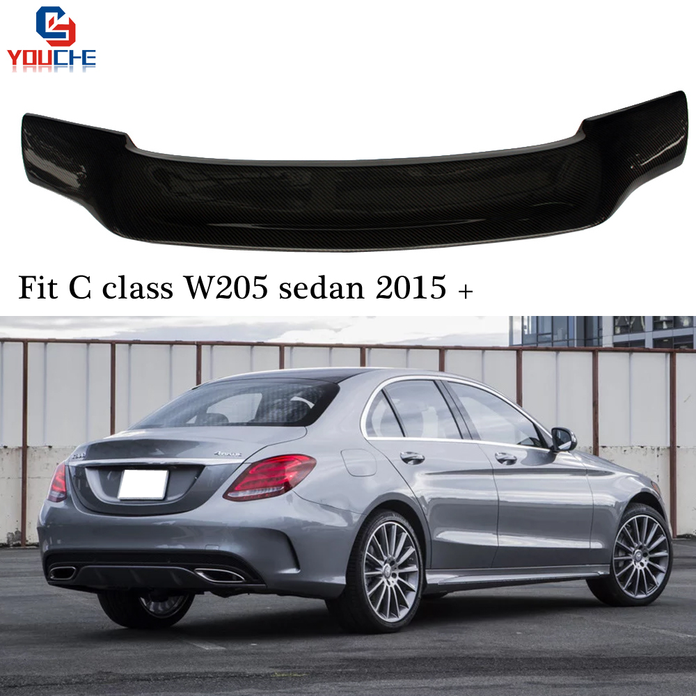 R Style Carbon Fiber Rear Spoiler Trunk Wing For Mercedes