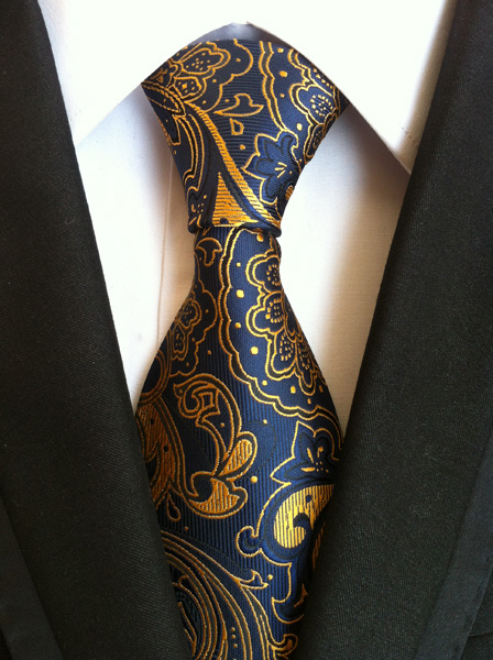 8 см классический галстук комплект с золотым карманом Пейсли квадратным, чтобы соответствовать костюму