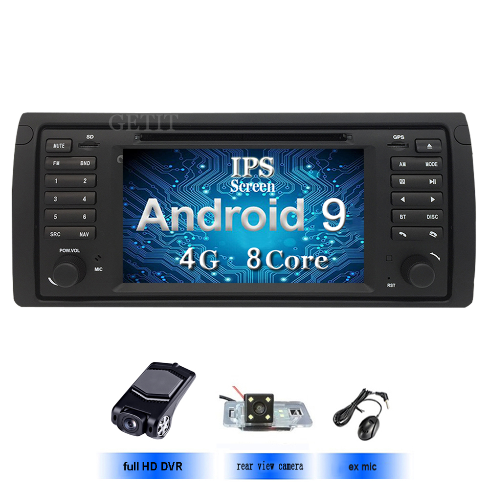 IPS screen Android 9 In Dash Car DVD Stereo Player for BMW E53 With BT Wifi