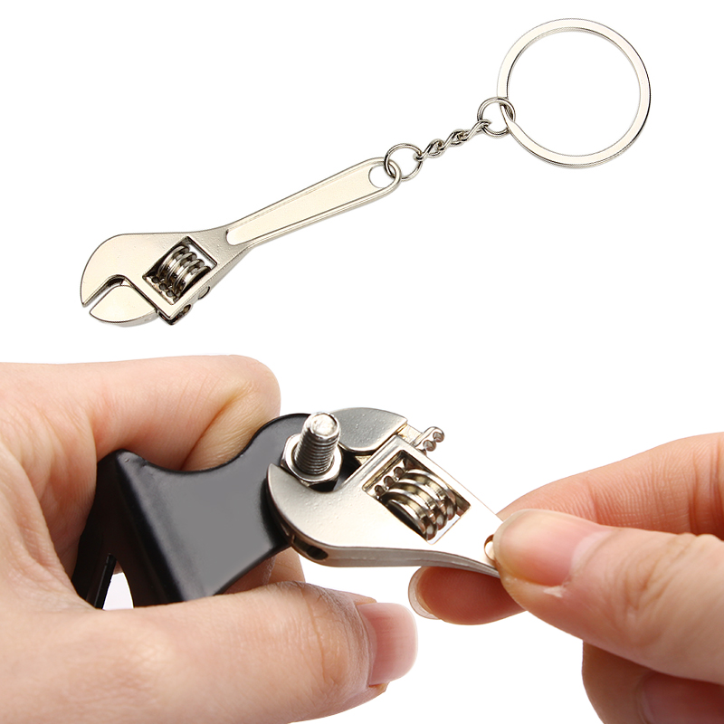 Spanner Keychain Useful Stainless Steel High-grade Simulation Keyfob Tools Wrench Key Chain Novely Auto Key Holder Car Key Ring