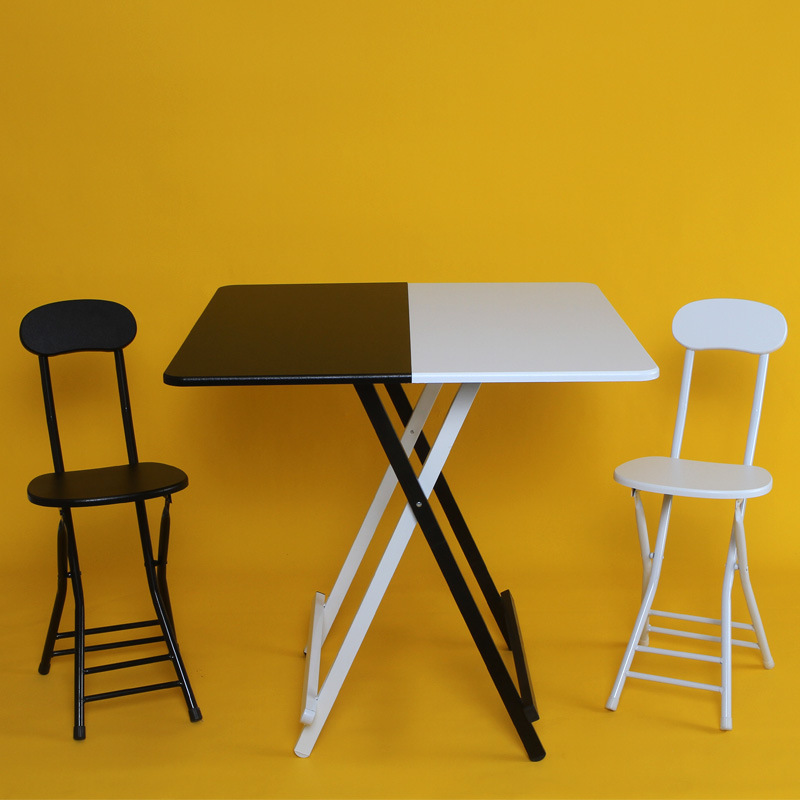 Simple Minimalist Dining Set: Simple Folding Home Table Dining Table 4 People Ins Air