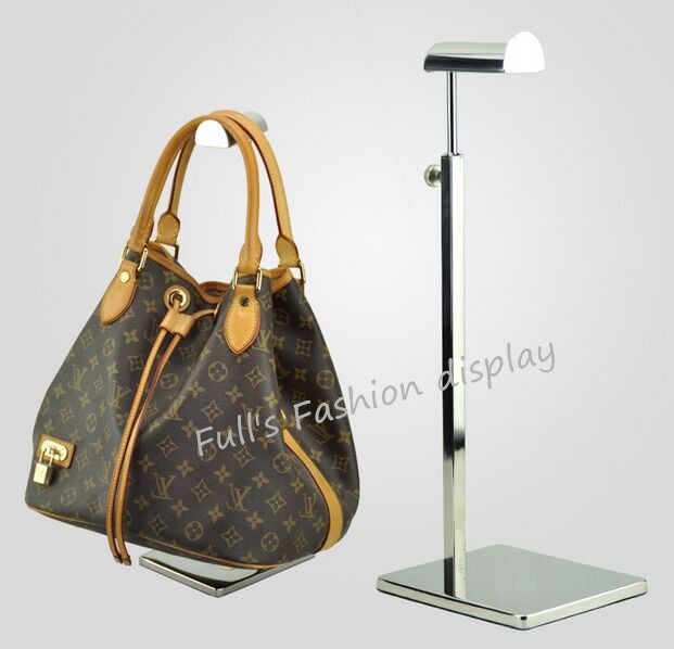 3dc924f1f6 Hot sale stainless steel metal women bag bracket display rack adjustable  Tie/wig/purse/handbag display stand holder rack 5pcs-in Coat Racks from  Furniture ...
