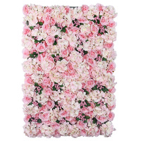 40x60cm Rose Hydrangea Flower Wall European Style Artificial Flowers For Wedding Decoration Background arrangement Decor Fleurs