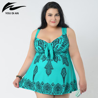 Sexy 10XL Bodysuit Plus Size Swimwear One Piece Swimsuit Print Women Swimming Suit Sweet Bathing Suit