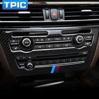 For Bmw F15 F16 Carbon Fiber Car CD Control Panel Stickers CD Panel Frame Decorations Refit