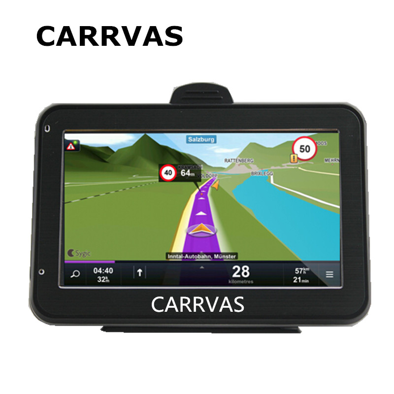 CARRVAS 4 3 inch car GPS navigator 128M DDR 800Mhz CPU built in 4GB with Russia