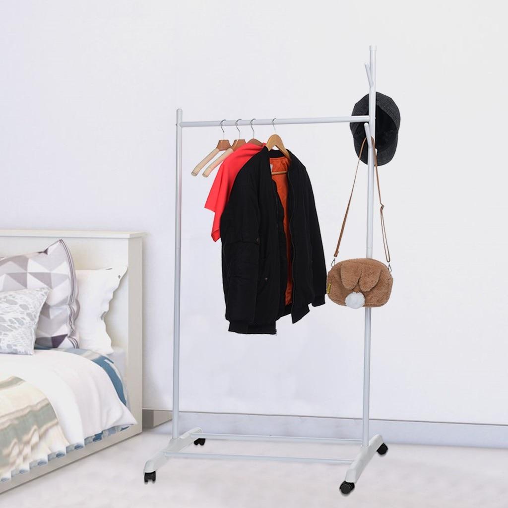 Droogrekken Landing Slaapkamer Eenvoudige Hangers Enkelpolige Thuis Balkon Jas Rekken Staande Kleding Pole Indoor Nieuwe 409 Van Hoge Kwaliteit
