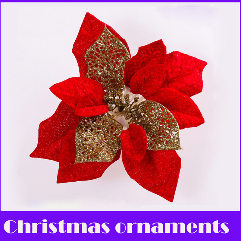 HAOCHU Merry Christmas! (5Pcs/lot) 20cm Cristmas Flower Decoracion Navidad Decoration en ...