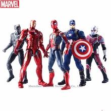 Hasbro Marvel Toys The Avenger Endgame 17CM Super Hero Thor Captain Thanos Wolverine Spider Man Iron Man Action Figure Toy Dolls цена