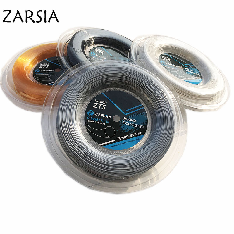 1 Reel ZARSIA Polyester Tennis String 1.25mm 200M Tennis Rackets String 4G Round Smooth Quality Strings