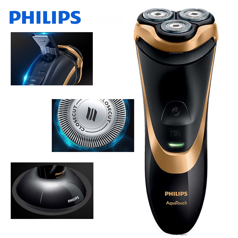 Image 2 - 100% Original Philips Professional Electric Shaver AT798 Rotary Rechargeable For Men With Triple Floating Blades Wet&Dry Shaving-in Electric Shavers from Home Appliances
