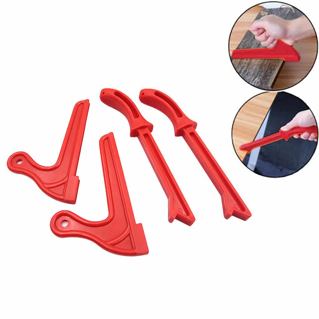 2019 Hot Produk Baru 4 Pcs T1 T2 Keselamatan Tangan Perlindungan Serbuk Gergaji Kayu Melihat Push Stick Set untuk Pertukangan Aksesoris rumah Alat