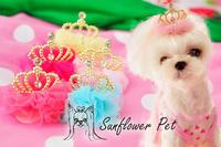 South Korea Color Noble Palace Sasa Crown Hairpin Pet Dog Head Flower Headdress