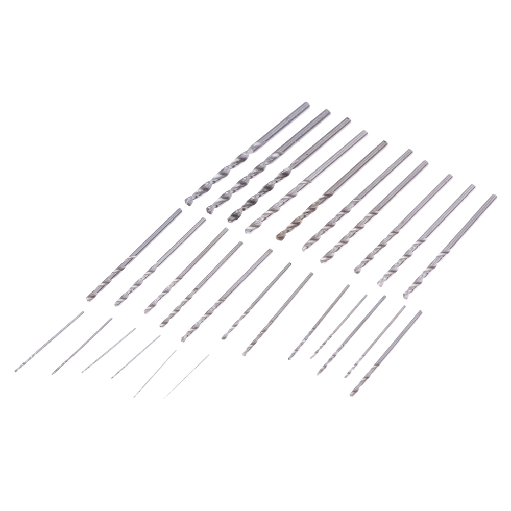 28Pcs 0.3-3.0mm PCB Drill Bit Mini High Steel Speed Twist Drill Bits Set Power Tool Woodworking Rotary Hot Sale 13pcs lot hss high speed steel drill bit set 1 4 hex shank 1 5 6 5mm free shipping hss twist drill bits set for power tools