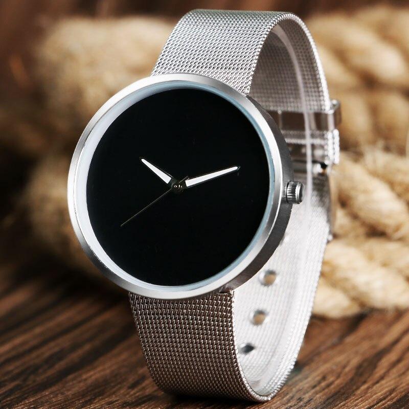 Hot Selling Wrist Watch Women Trendy Casual Simple Mesh Stainless Steel Strap Gift Watches Men quartz-watch relogio feminino