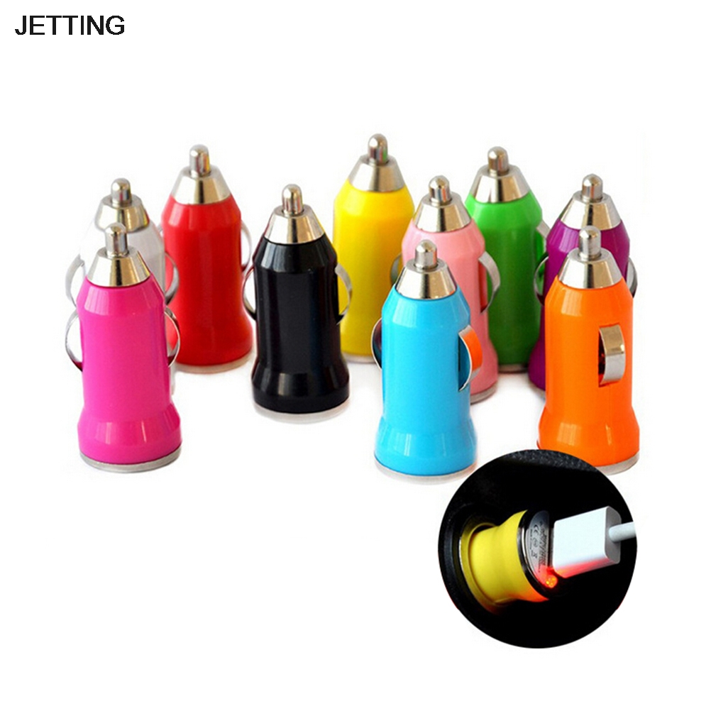 цена на JETTING Universal USB Car Charger Power Adapter 5V 3.1A USB Socket Charger for iPhone 5 6 6S Ipad Samsung Tablet Car-Charger