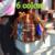 Mujeres Bolsa de lona impresión Bolsa hombro moda patrón de estilo nacional enrejado de diamante cruz cuerpo de mensajero bolso pequeño cubo