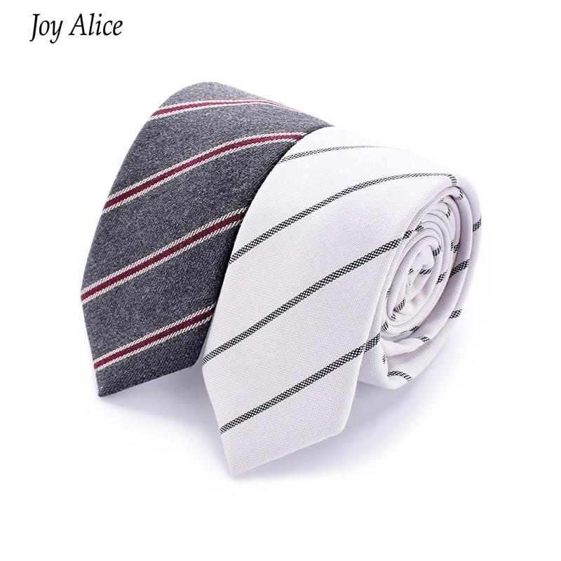 2018 nueva Moda delgado corbata de Algodón 6 cm corbata estrecha Gravata Rayas Flacas Corbata Hombre de negocios Diseñador Cravat envío de la gota