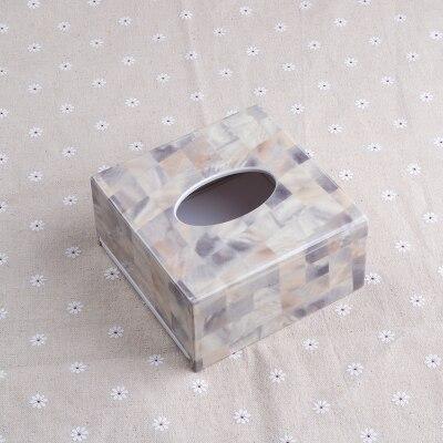 Креативная акриловая коробка для салфеток, держатель для салфеток, диспенсер для салфеток для украшения дома TB018 - Цвет: Square Design 2