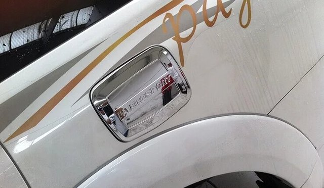 Auto chrome accessories,oil tank cover trim For  Pajero  sport ,Type A,,free shipping