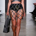 Женская high street готический все матч регулируемая сексуальный стиль натуральная кожа соткан прикован юбка формы моды тело жгут