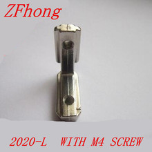 T Slot L Shape Type 90 Degree 2020 Aluminum Profile Accessories Inside Corner Connector Bracket with M4 Screw(China)