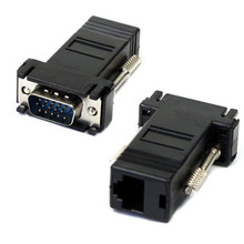 Superior Quality VGA Extender Male To Lan Cat5 Cat5e RJ45 Female Adapter Free Shipping H0T0