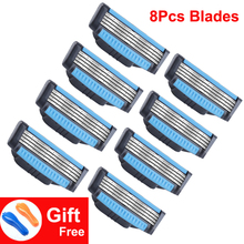 Giulietta New Shaving Razor Blades For Men 8pc/lot 4 Layer Stainless Steel Safety Shaver Blade Head Replaceable (Only Blade) цены онлайн