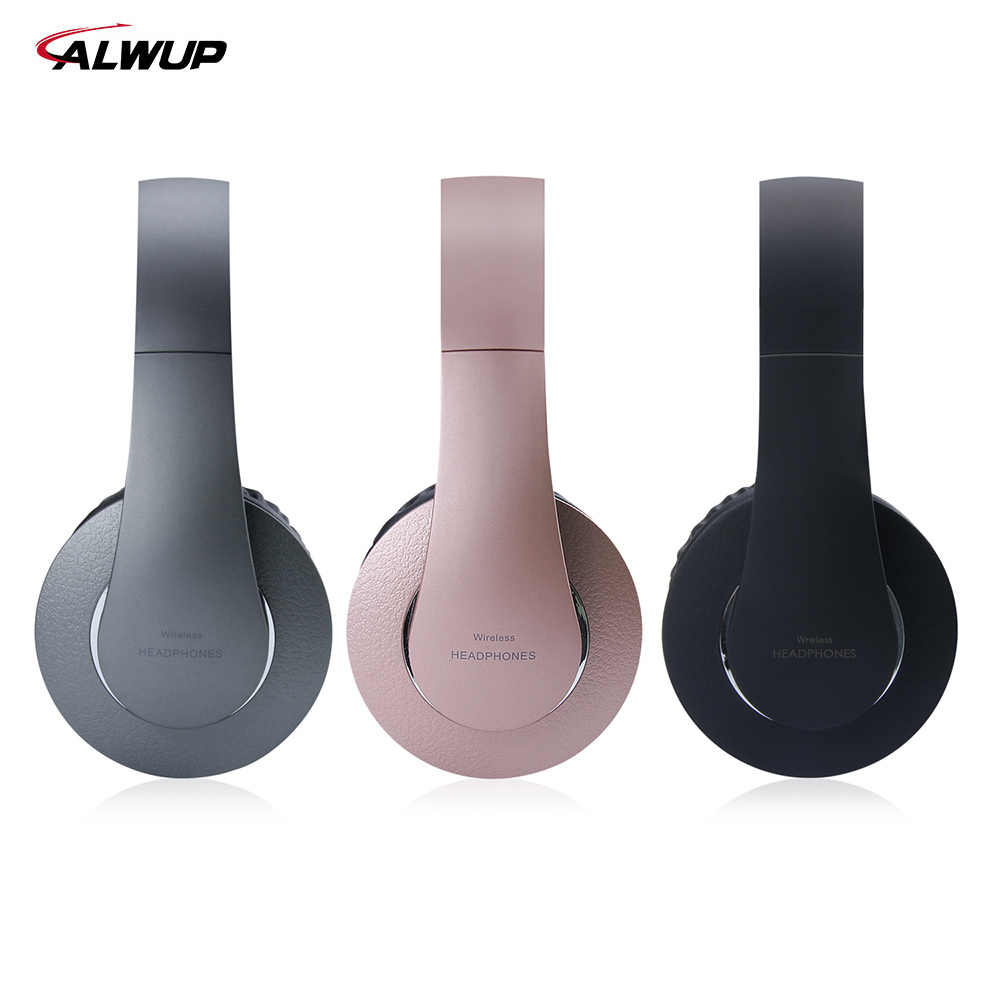 ALWUP Wireless Headphone Bluetooth headset stereo music earphone for Cell phone PC Gaming with microphone MP3 player FM ks 508 mp3 player stereo headset headphones w tf card slot fm black