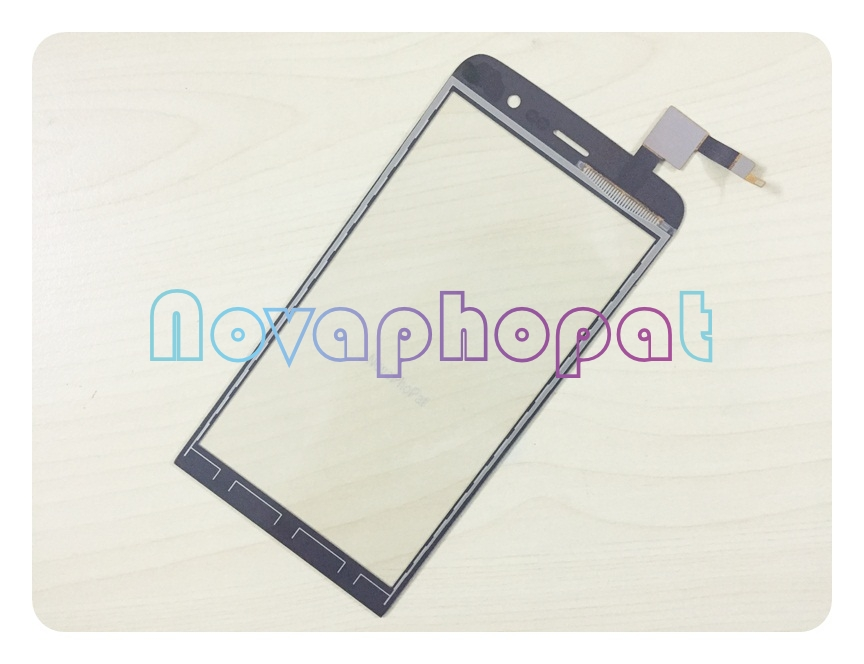 Novaphopat Black Touchscreen For Wiko Slide Touch Screen Digitizer Glass Panel Sensor Screen Replacement Tracking