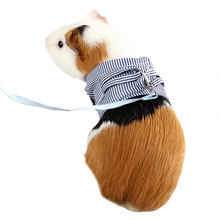 Guinea Pig Rabbit Harness and Leash Cotton Small Animals Harness Vest For Teacup Hamster Leash Traction Rope for Small Pet