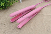 2 Pcs FREE SHIPPING Mini Pink Electronic Hair Wavy Hair Curlers Get EU US UK Plug