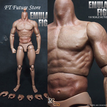 12 Muscular Action Figure Body 1/6 Soldier ZC Toy for 16 Scale Hot Toys Head SCULPT of Figures Accessories цена