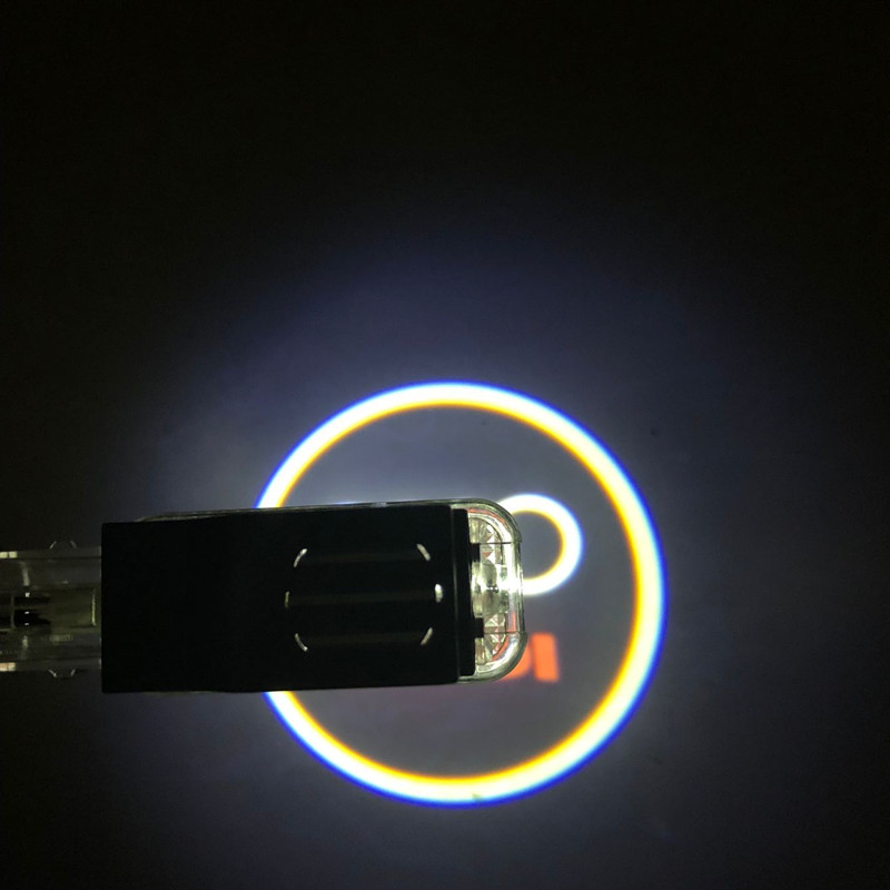 2pcs Car LED Logo Projector Door Welcome Light For Audi A4 A6 B5 B6 B7 B8 A8 A7 A5 A3 A1 R8 C5 C6 TT Q7 Q5 80 100 Q3 S line RS